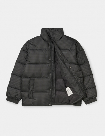 Carhartt Wip Danville Jacket Specter Check, Cypress / White. - Product Photo 2