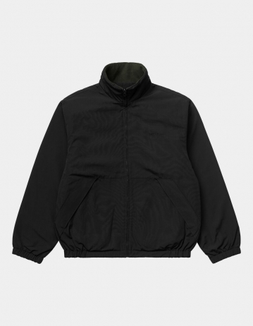 Carhartt Wip Denby Reversible Jacket Black / Cypress. - Product Photo 2