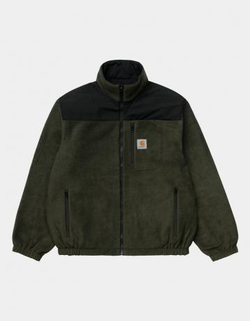 Carhartt Wip Denby Reversible Jacket Black / Cypress. - Product Photo 1