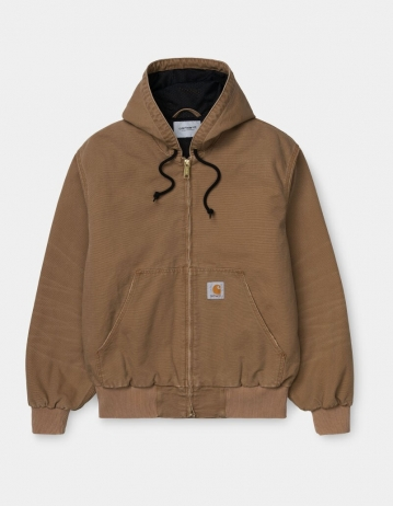 Carhartt Wip Og Active Jacket Hamilton Brown Aged Canvas. - Product Photo 1