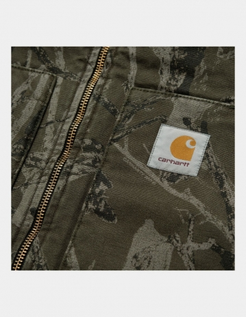 Carhartt Wip Classic Vest Camo Tree, Green Aged Canvas. - Product Photo 2