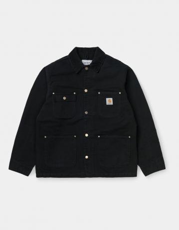 Carhartt Wip Og Chore Coat Black / Black Aged Canvas. - Product Photo 1