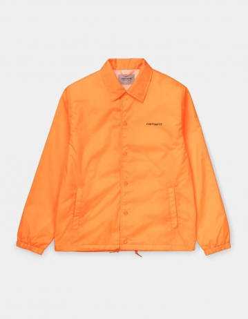 Carhartt Wip Carhartt Script Coach Jacket Pop Orange / Black. - Product Photo 1