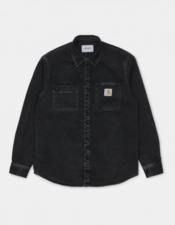 Carhartt Wip Salinac Shirt Jac Black Stone Washed. - Product Photo 2