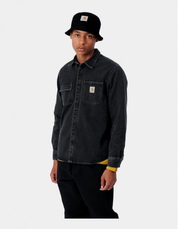 Carhartt Wip Salinac Shirt Jac Black Stone Washed. - Product Photo 1