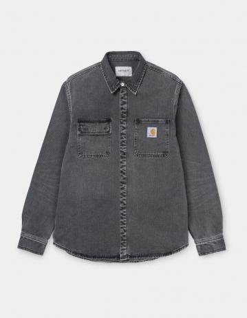 Carhartt Wip Salinac Shirt Jac Black Worn Bleached. - Product Photo 2