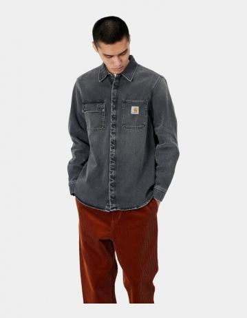 Carhartt Wip Salinac Shirt Jac Black Worn Bleached. - Product Photo 1