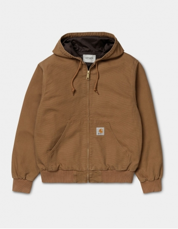 Carhartt Wip Active Jacket Hamilton Brown Rinsed. - Product Photo 1