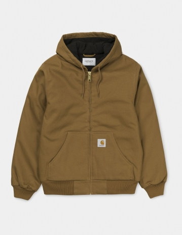 Carhartt Wip Active Jacket Hamilton Brown Rigid (Cotton Dearborn). - Product Photo 1