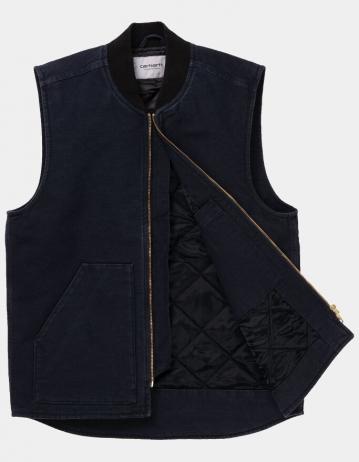 Carhartt Wip Classic Vest Dark Navy Rinsed. - Product Photo 2