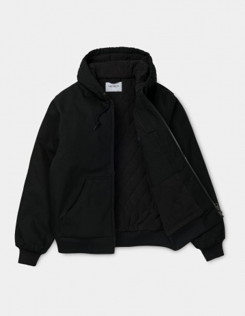 Carhartt Wip Active Jacket Black Rigid (Cotton Dearborn). - Product Photo 2