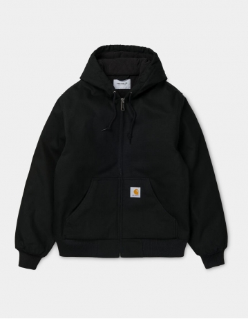 Carhartt Wip Active Jacket Black Rigid (Cotton Dearborn). - Product Photo 1