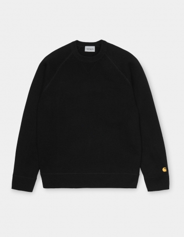 Carhartt Wip Chase Sweater Black / Gold. - Product Photo 2