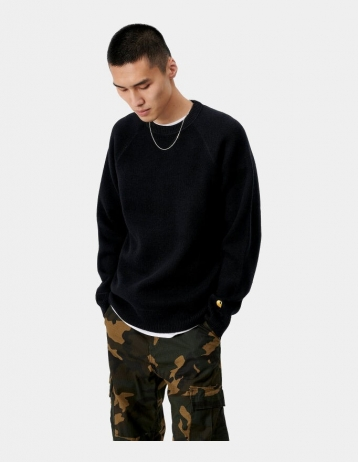 Carhartt Wip Chase Sweater Black / Gold. - Product Photo 1