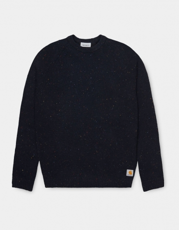 Carhartt Wip Anglistic Sweater Dark Navy Heather. - Product Photo 2