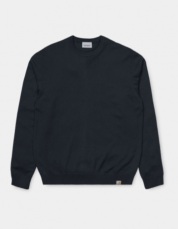 Carhartt Wip Playoff Sweater Dark Navy. 2 - Product Photo 2
