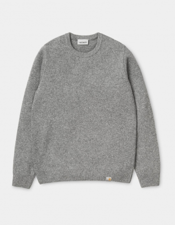 Carhartt Wip Allen Sweater Grey Heather. - Product Photo 2