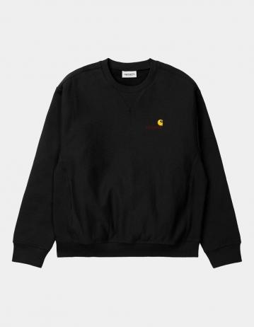 Carhartt Wip American Script Sweatshirt Black. - Product Photo 2