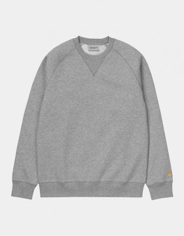 Carhartt Wip Chase Sweatshirt Grey Heather / Gold. - Product Photo 2