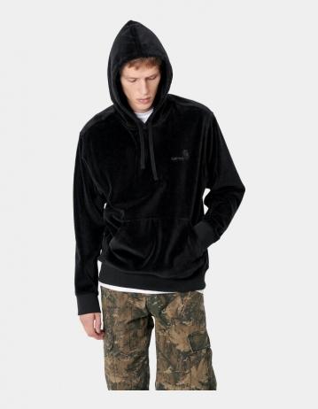 Carhartt Wip Hooded United Script Sweatshirt Black. - Product Photo 1
