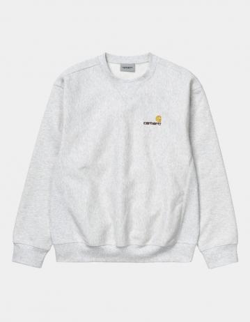 Carhartt Wip American Script Sweatshirt Ash Heather. - Product Photo 2