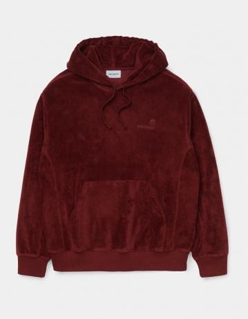 Carhartt Wip Hooded United Script Sweatshirt Bordeaux. - Product Photo 1