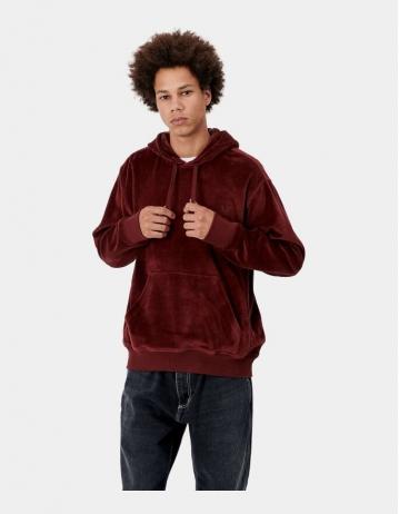 Carhartt Wip Hooded United Script Sweatshirt Bordeaux. - Product Photo 2