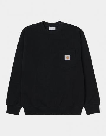Carhartt Wip Pocket Sweatshirt Black. - Product Photo 2