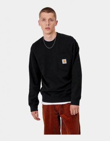 Carhartt Wip Pocket Sweatshirt Black. - Product Photo 1
