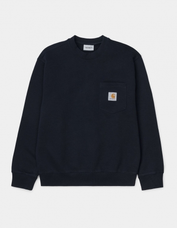 Carhartt Wip Pocket Sweatshirt Dark Navy. - Product Photo 2