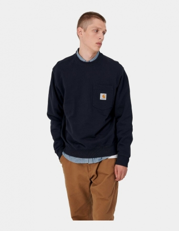 Carhartt Wip Pocket Sweatshirt Dark Navy. - Product Photo 1