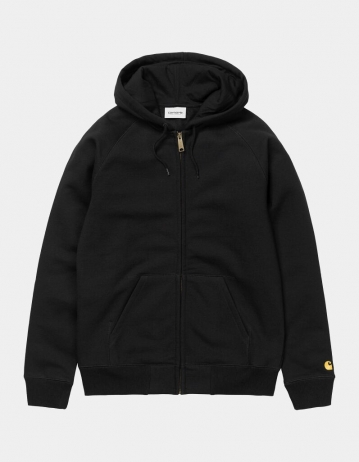 Carhartt Wip Hooded Chase Jacket Black / Gold. - Product Photo 2