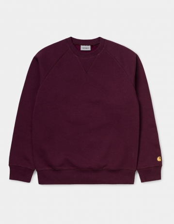 Carhartt Wip Chase Sweatshirt Bordeaux / Gold. - Product Photo 2