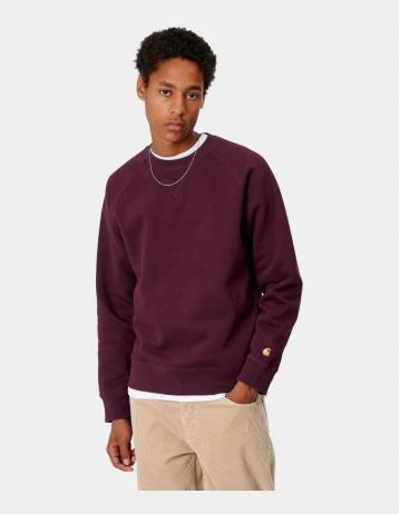 Carhartt Wip Chase Sweatshirt Bordeaux / Gold. - Product Photo 1