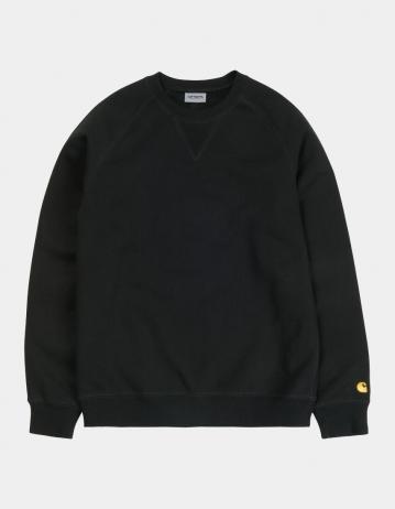Carhartt Wip Chase Sweatshirt Black / Gold. - Product Photo 2