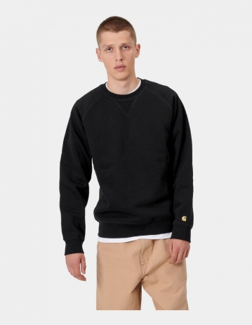 Carhartt Wip Chase Sweatshirt Black / Gold. - Product Photo 1