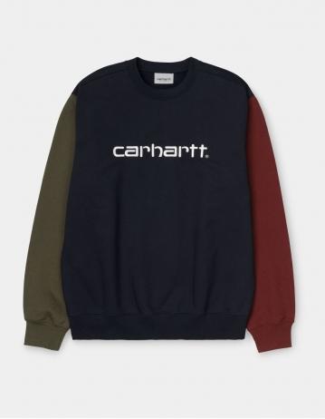 Carhartt Wip Carhartt Tricol Sweatshirt Dark Navy. - Product Photo 2