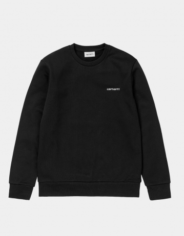 Carhartt Wip Script Embroidery Sweatshirt Black / White. - Product Photo 1