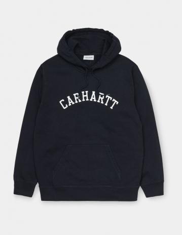 Carhartt Wip Hooded University Sweatshirt Dark Navy / White. - Product Photo 2