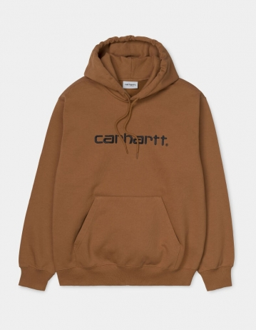 Carhartt Wip Hooded Carhartt Sweatshirt Hamilton Brown / Black. - Product Photo 2