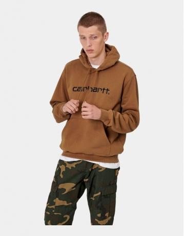Carhartt Wip Hooded Carhartt Sweatshirt Hamilton Brown / Black. - Product Photo 1