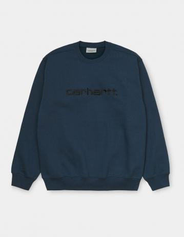 Carhartt Wip Carhartt Sweatshirt Admiral / Black. - Product Photo 2
