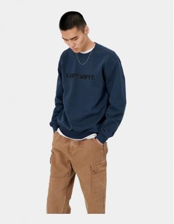 Carhartt Wip Carhartt Sweatshirt Admiral / Black. - Product Photo 1