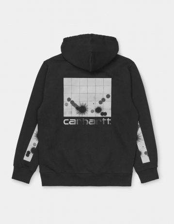 Carhartt Wip Hooded Reflective Headlight Sweatshirt Black / Reflective Grey. - Product Photo 2
