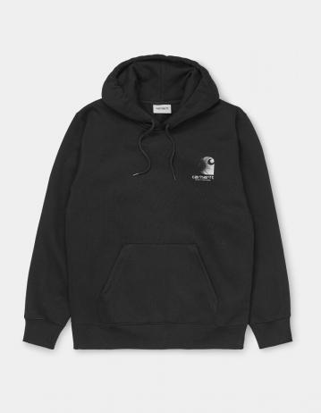 Carhartt Wip Hooded Reflective Headlight Sweatshirt Black / Reflective Grey. - Product Photo 1
