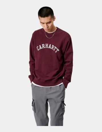 Carhartt Wip University Sweatshirt Bordeaux / White. - Product Photo 1
