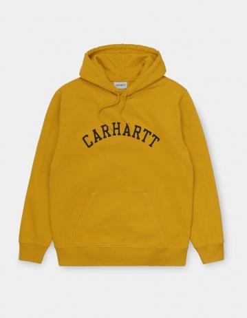 Carhartt Wip Hooded University Sweatshirt Colza / Black. - Product Photo 2