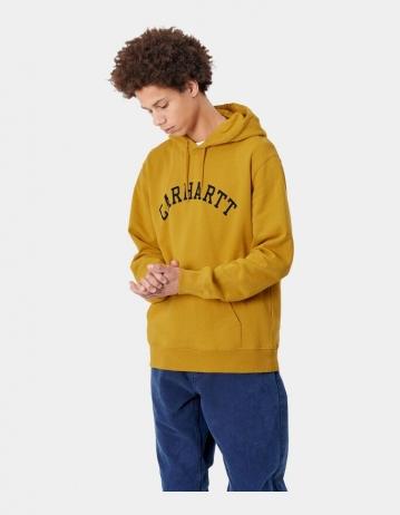 Carhartt Wip Hooded University Sweatshirt Colza / Black. - Product Photo 1
