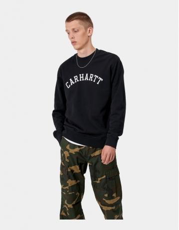 Carhartt Wip University Sweatshirt Black / White. 2 - Product Photo 1