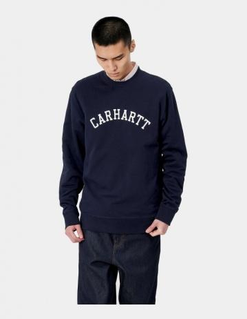 Carhartt Wip University Sweatshirt Dark Navy / White. 2 - Product Photo 1
